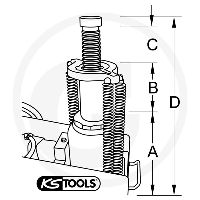 Ks Tools Air Hydraulic Jack 35 T